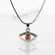 Collar NARANJA del ojo malvado cristal Amuleto Colgante Joyería Kabbalah Judaica