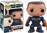 RARE Commander Shepard Mass Effect Funko Pop Vinyl New in Mint Box + Protector