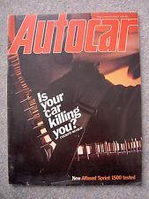Autocar (26 August 1978) Alfasud Sprint, Singer Le Mans, Chevette, Datsun Sunny