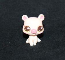 Littlest Pet Shop Pink PIG #2673 Yellow Eyes CUTEST PETS baby piglet white