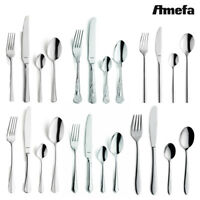 Amefa Cutlery Set 24 Piece Stainless Steel Stylish Kitchen Dining Table Utensils
