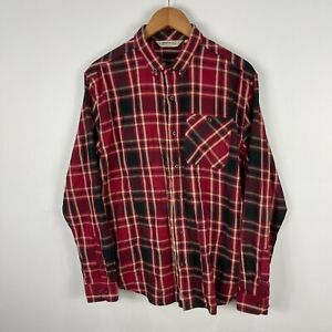 Regatta Mens Button Shirt Size Large Multicoloured Plaid Long Sleeve 38.22