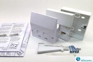 Fibre BT Infinity VDSL2 ADSL Broadband Faceplate Filter Kit NTE5a Master Socket