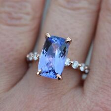 Women Fashion Jewelry 925 Sliver Blue Sapphire Ring Anniversary Ring Size 5-10