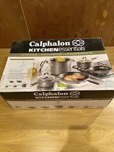 Calphalon Kitchen Essentials Nonstick 8 Piece Pots and Pans Cookware Set New