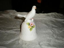 Decorative Dinner Bell With Bird And Flower Fine Bone China By Towle