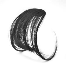 Lady Thin Neat Air Bangs Human Hair Extensions Clip In Fringe Front Hair Piece