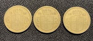 Iceland 1 kronur from 1925, 1929 and 1940