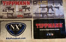 New Tippmann Paintball Cloth Banner Lot - Store Marker Ad Logo Promo Advertising