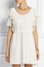 Chloé Chloe White Crocheted lace mini dress Size F 36 US 4 UK 8