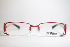 PAR Bino Pius 8032 PLUS Monel 52 19 137 ROSSO halbrand Montatura occhiali NUOVO