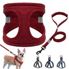 Soft Fabric Dog Vest Harness&Leash Set High Quality Padded Safety Reflective S-L