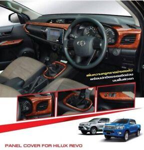 DASH BOARD INTERIOR WOOD TRIM FOR TOYOTA HILUX REVO M70 M80  2015-2019 AT