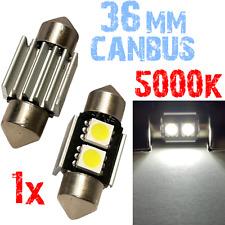 1x Bulb Slinger 36 mm LED 5000K 2x 5050 Witte Auto Moto Panel CANBUS Plate 2B7 2