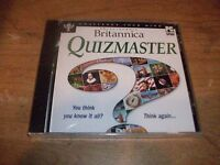 Encyclopedia Britannica Quizmaster Challenge Your Mind CD ROM WINDOWS NEW