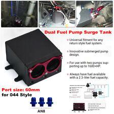 60mm Dual Port External Fuel Pump Tank Kit Billet Aluminium AN8 Fitting for 044