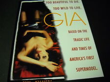 ANGELINA JOLIE is GIA Too Beautiful To Die. To Wild To Live 1998 PROMO AD mint