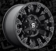 Fuel Vapor D560 17x9 8x6.5 ET-12 Matte Black Wheels Rims (Set of 4)