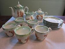 Antique Rose O'Neill Wilson kewpie doll child's 13 piece tea set