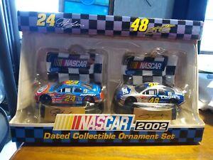 Trevco 2002 NASCAR Dated Ornaments-Jeff Gordon, Jimmie Johnson