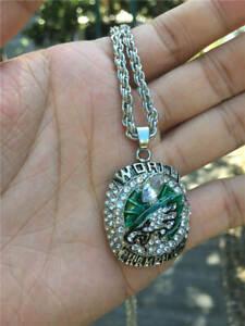 2018 Philadelphia Eagles American Football TEAM Ring Pendant Necklace Fan Gift