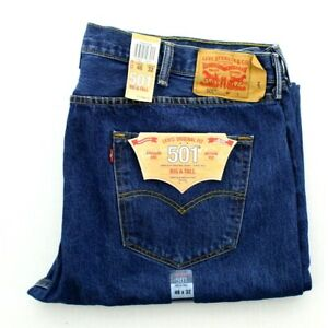 Levi's 501 Jeans Men's Straight Leg Button Fly Original Big and Tall Pants $59