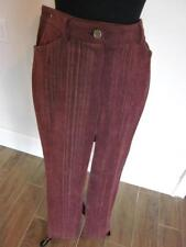 "CHANEL 30""-32"" WAIST RED WITH YELLOW & SILVER CORDUROY PANTS SZ 38 EU/6 US ITALY"