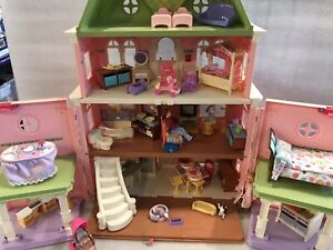 Fisher Price Loving Family Dollhouse Grand Mansion w/People, & Accessories