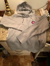 Chicago Cubs MLB Hoodie Sweatshirt Size M Embroidered Rizzo Banks Santo Grey New