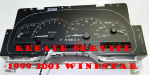 1999 TO 2003 FORD WINDSTAR WITH MESSAGE CENTER INSTRUMENT CLUSTER REPAIR
