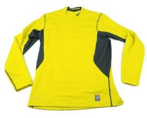 Nike Pro Combat Men's Dri-Fit Fitted Hyperwarm Long Sleeve Shirt Size Medium
