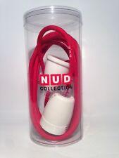 Nud Classic pendelleuchte-porcelana versión Weiss-textil cable 3m-rojo