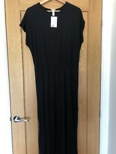H&M Black Maxi Jersey Dress Size M