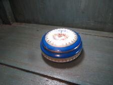 Boite ancienne porcelaine limoges A L france noeud louis 16 bleue bijoux bonbon