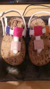 Toddler girls bnib white multi size 21 (uk 5) summer sandals