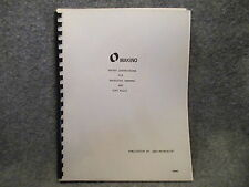 Makino Saftey Instructions For Machining Centers & Copy Mills Book Manual 11084