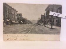 1910 Beaver Falls Pa. 7th Street Businesses Brick Streetcar Tracks Rare Postcard