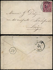 Belgium 1891 - Cover Chaudfontaine to Liège