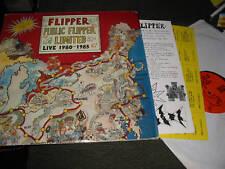 FLIPPER public ltd sub53 1980-85 2 LP gameboard orig NM oop punk sf