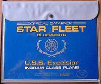Vintage USS Excelsior Star Fleet Blueprint Set-Star Trek- 8 Sheets in pouch (MF)
