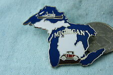 WILLABEE & WARD PIN MICHIGAN STATE, COMES WITH STATISTIC CARD