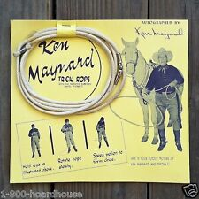 Vintage KEN MAYNARD TRICK ROPE Toy Display 1950 Original Cellophane Package NOS