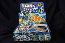 6 assorted GROWING FISH science grow ocean sea creature toy expanding novelty