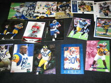 ISAAC BRUCE LOT (18) AUTHENTIC COLLECTIBLE NFL VINTAGE LEGEND FOOTBALL CARDS