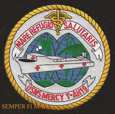 USS MERCY AH-19 USNS T-AH-19 PATCH US NAVY HOSPITAL SHIP PORT OF LOS ANGELS