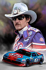 Richard Petty: giclee print on canvas poster painting no autograph N-113