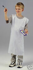 WHITE DISPOSABLE APRONS FOR KIDS CRAFTS - 100pk