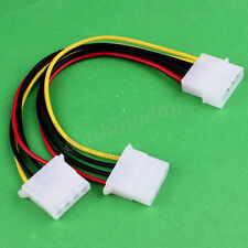 4pin Male to Dual 4pin Female D Sata IDE Power Extension Cable Y Spliter Wrie