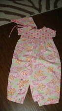 BOUTIQUE BABY LULU 12M 12 MONTHS HIBISCUS OUTFIT HEADPC