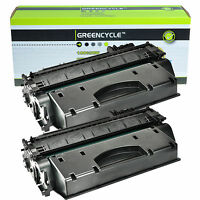 2PK CE505A High Yield Black Laser Toner Cartridge Compatible for HP P2030 P2055